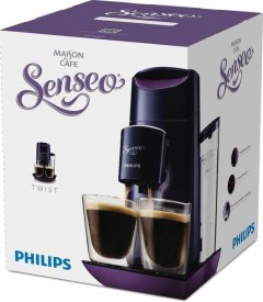 2 SZKLANKI + Ekspres Philips TWIST Senseo HD 7870