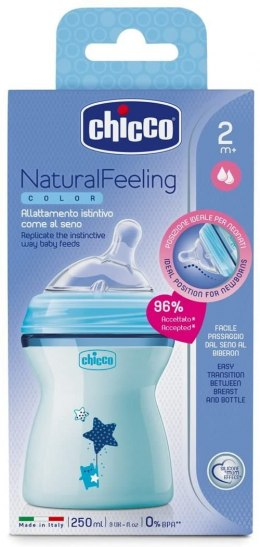 Butelka Baby Chicco Natural Feeling 250ml 2 m